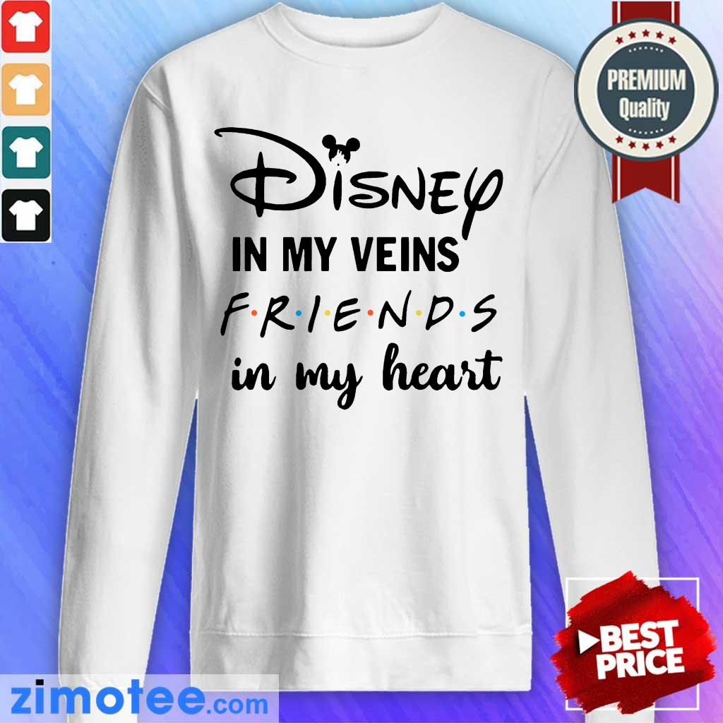 Totally Funny Disney In My 4 Veins Friends Sweater