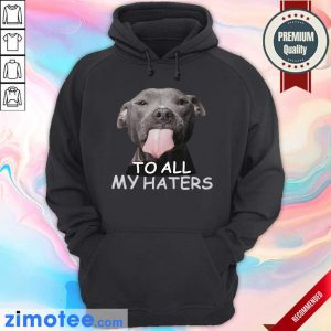 Awesome Pitbull To All My Haters Hoodie