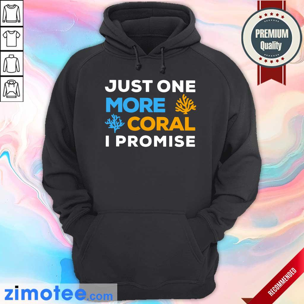 Just One More Coral I Promise Hoodie