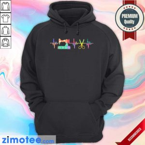 Nice Quilter Sewing Heartbeat Hoodie