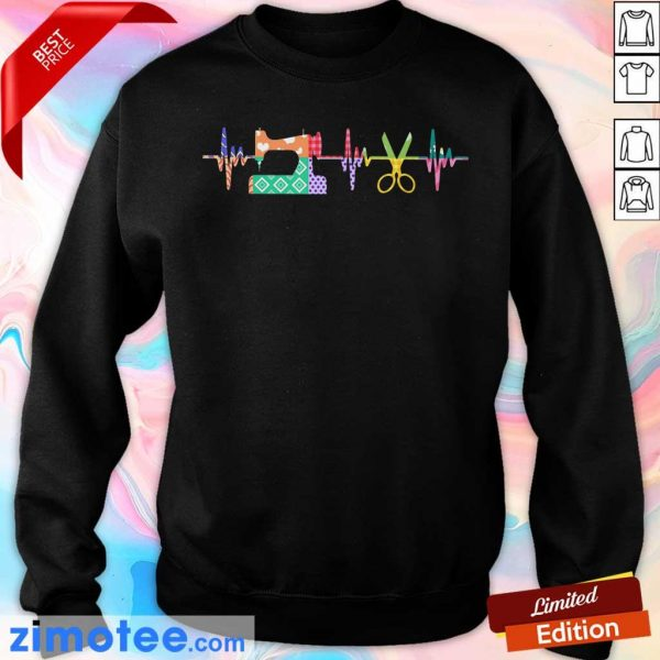 Nice Quilter Sewing Heartbeat Sweater