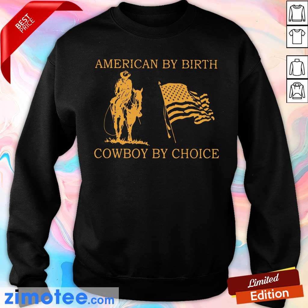 American By Birth Cowboy By Choice Sweater