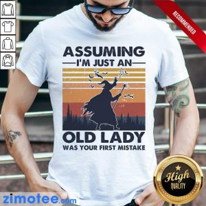 Assuming Just Old Lady Witch Vintage Shirt