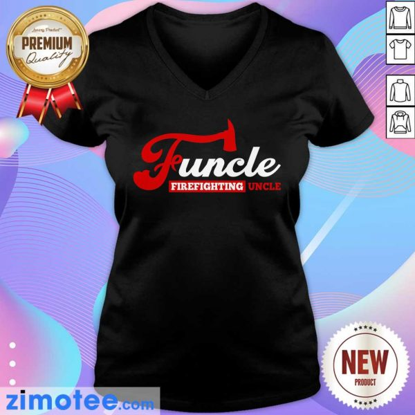 Awesome Funcle Firefighting Uncle V-neck