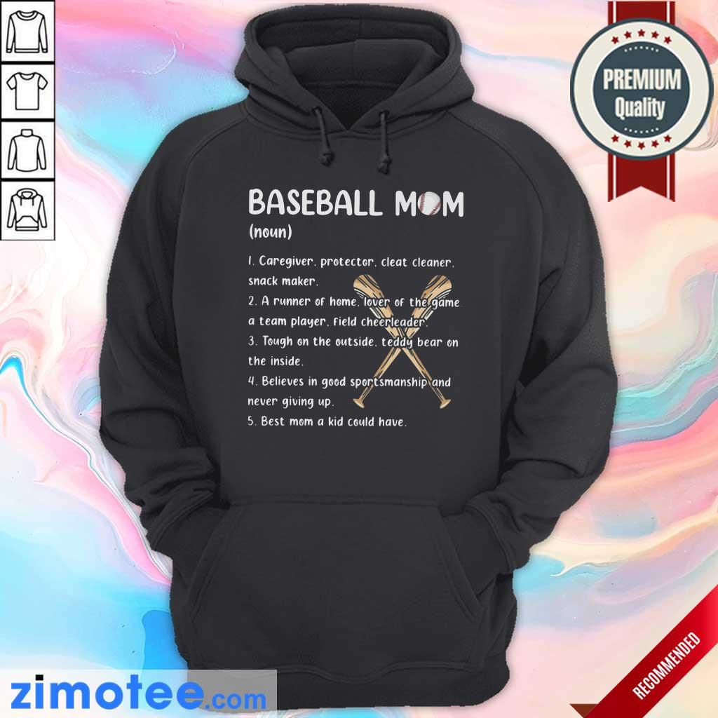 Baseball Mom Caregiver Protector Cleat Cleaner Snack Maker Hoodie