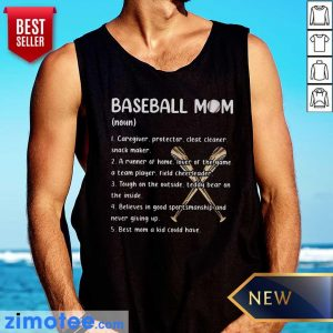 Baseball Mom Caregiver Protector Cleat Cleaner Snack Maker Tank Top