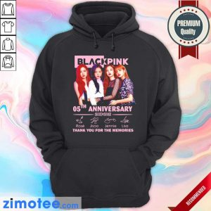 Black Pink 05th Anniversary 2016 2021 Thank You For The Memories Signature Hoodie