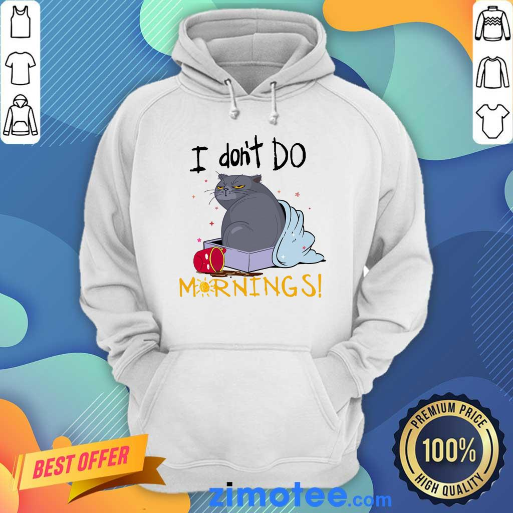 Cat I Dont Mornings Cat Lover Hoodie