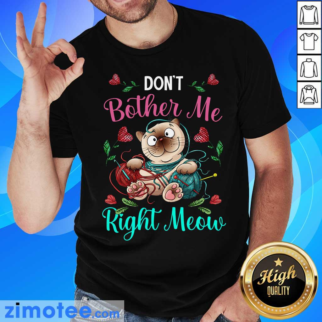 Crochet Don't Bother Me Right Meow Shirt
