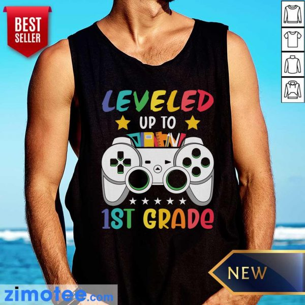Gamepad Leveled Up To 1st Grade Tank Top