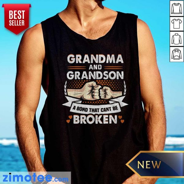 Grandma And Grandson A Bond That Can't Be Broken Tank Top