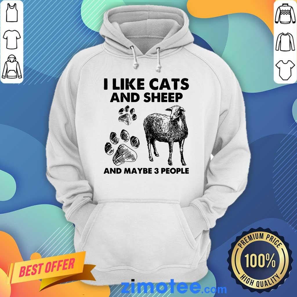 I Like Cats And Sheep Paw Dog And Maybe 3 People Hoodie
