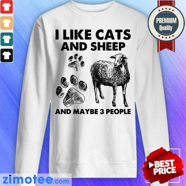 I Like Cats And Sheep Paw Dog And Maybe 3 People Sweater