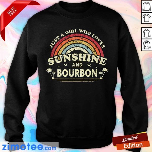 Just A Girl Who Loves Sunshine Bourbon Sweater
