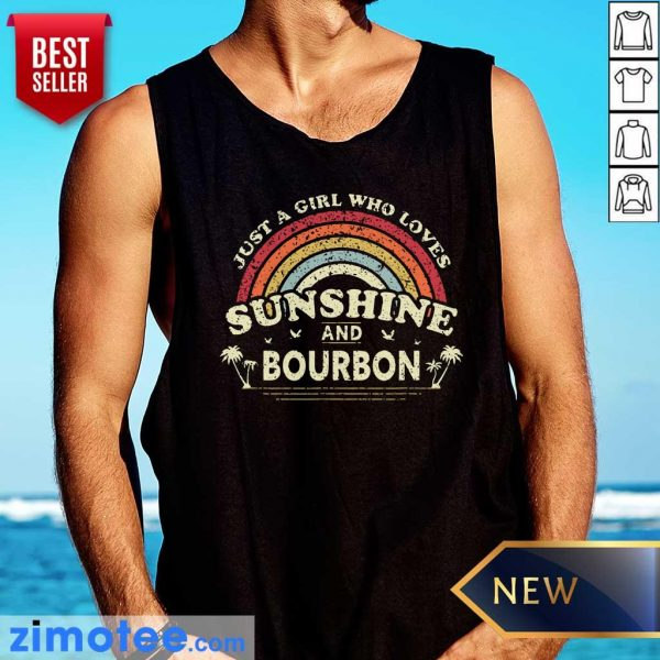 Just A Girl Who Loves Sunshine Bourbon Tank Top