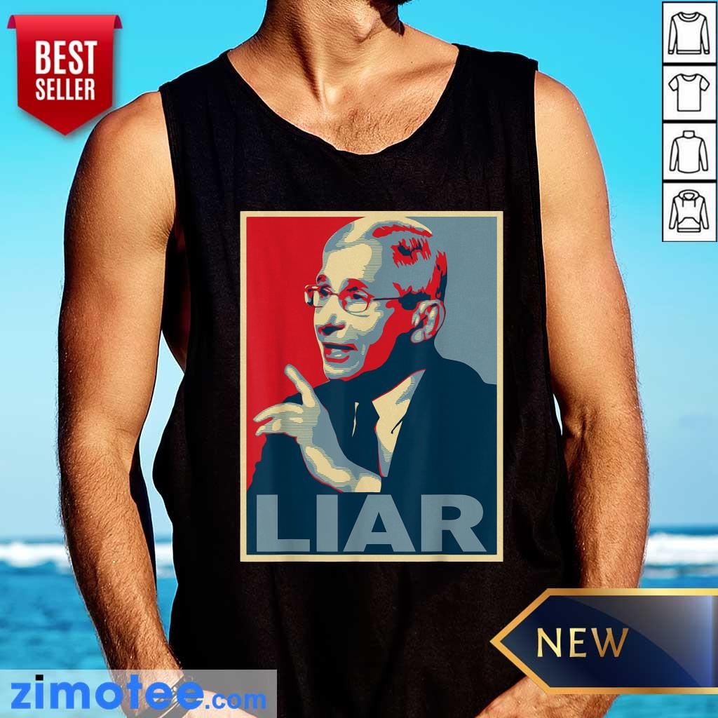 Liar Lied Vintage Retro Anthony Fauci Is Not My Doctor Tank Top