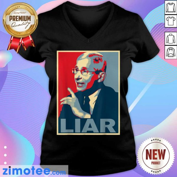 Liar Lied Vintage Retro Anthony Fauci Is Not My Doctor V-neck