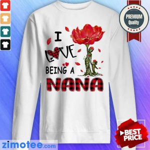 Love Being A Nana Red Flower Sweater