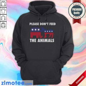 Please Don't Feed The Animals Libertarian Hoodie