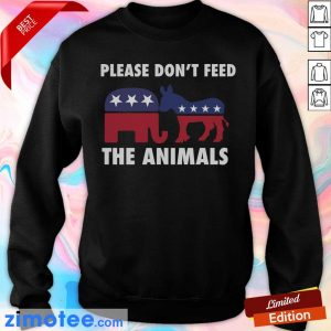 Please Don't Feed The Animals Libertarian Sweater