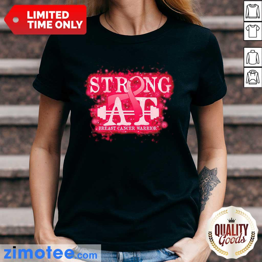 Strong At Breast Cancer Warrior Ladies Tee