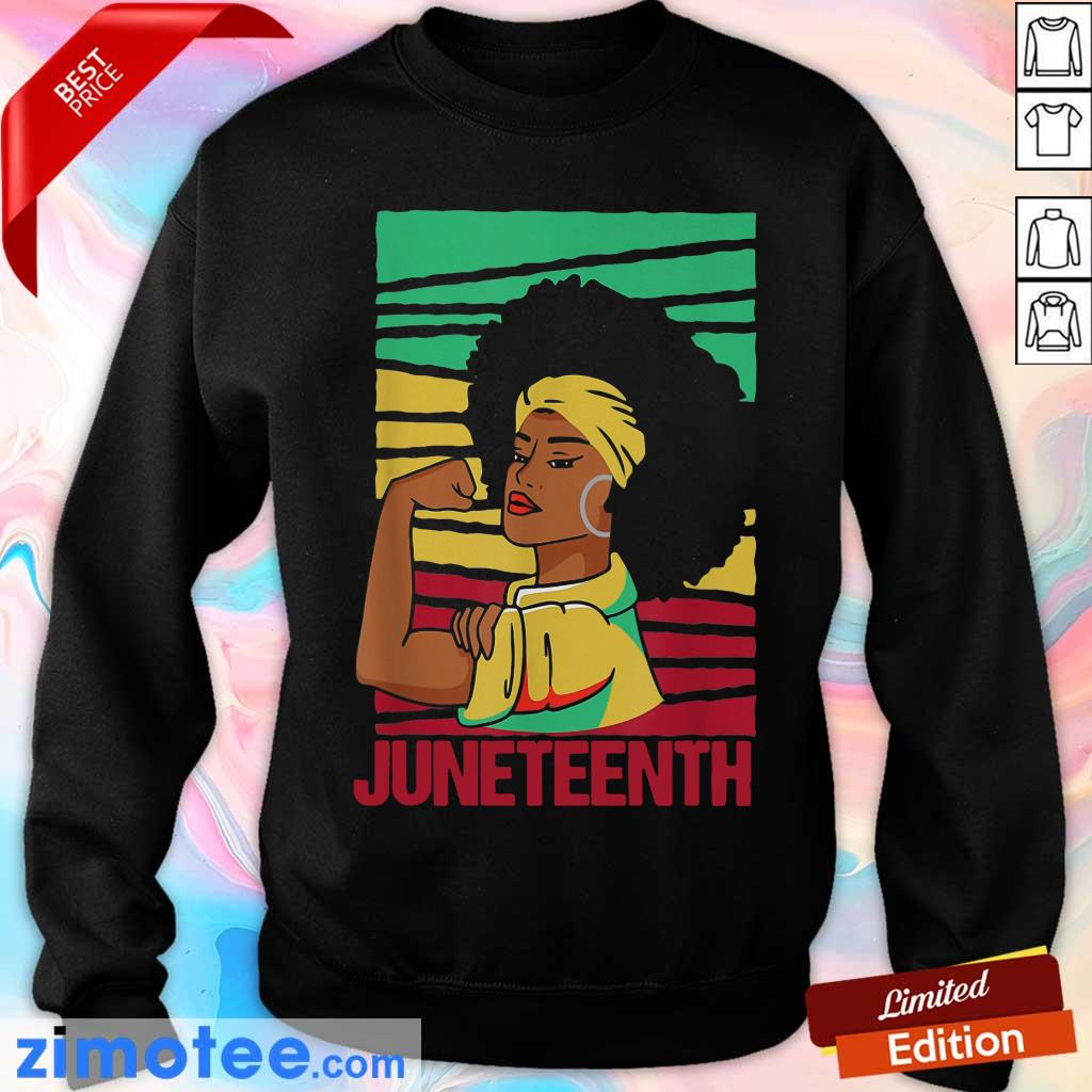 Strong Black Girl Juneteeth Day Sweater