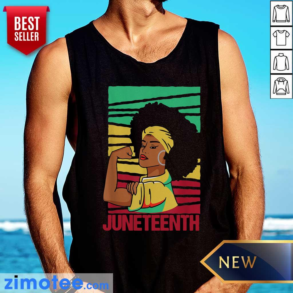 Strong Black Girl Juneteeth Day Tank Top