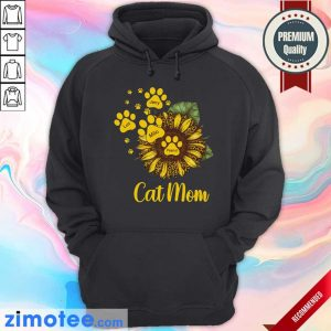 Sunflower Cat Mom Personalized Paw Dog Hoodie