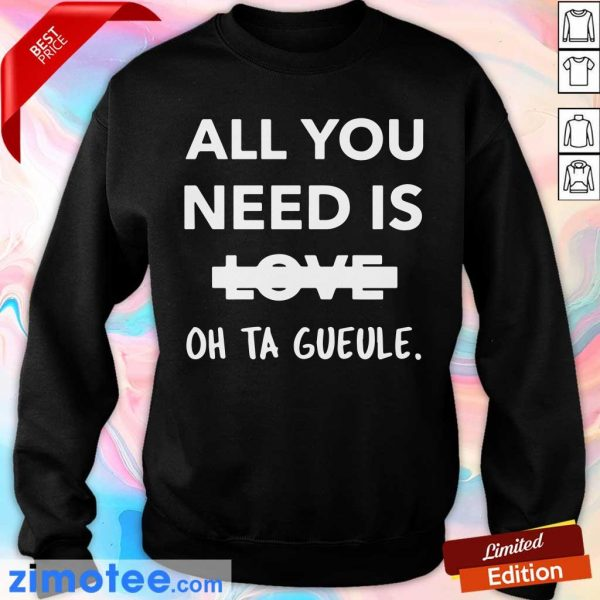 Top All You Need Is Love Oh Ta Guele Sweater