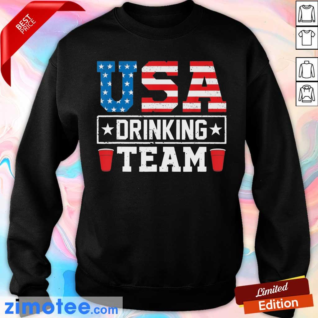 USA Flag Drinking Team Drinking Beer Sweater