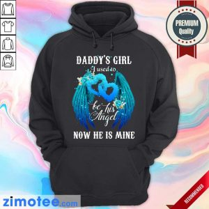Wing Daddys Girl Used To Be Angel Now He Mine Hoodie