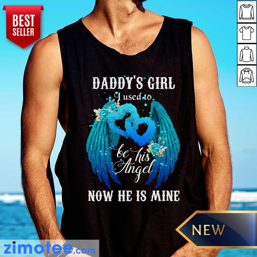 Wing Daddys Girl Used To Be Angel Now He Mine Tank Top