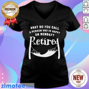 A Person Who Is Happy On Monday Retired V-neck