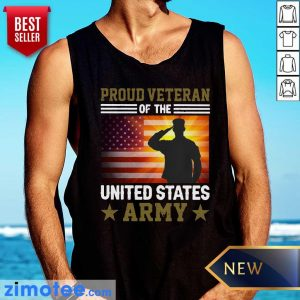 American Flag Proud Veteran Of The United States Army Vintage Tank Top