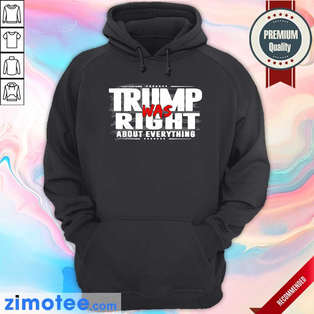 American Flag Trump Was Right About Everything Hoodie