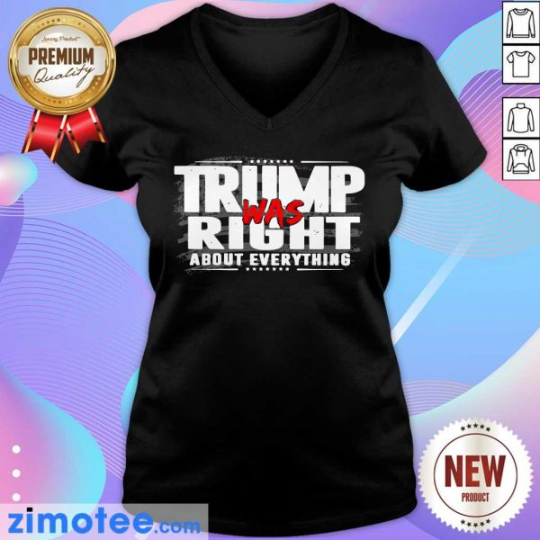American Flag Trump Was Right About Everything V-neck