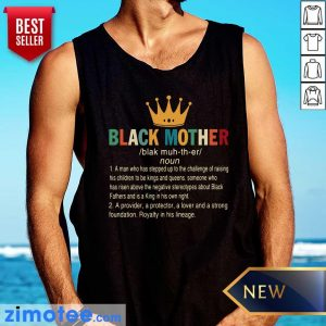 Crown Black Mother A Provider A Protector A Lover And A Strong Foundation Tank Top