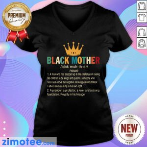 Crown Black Mother A Provider A Protector A Lover And A Strong Foundation V-neck