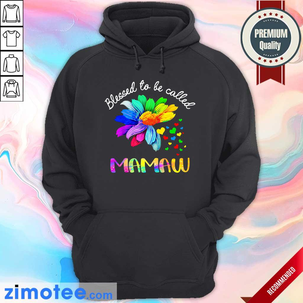 Daisy Flower Blessed To Be Called Mamaw Hoodie