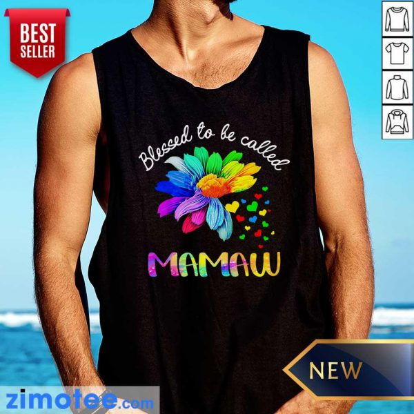 Daisy Flower Blessed To Be Called Mamaw Tank Top