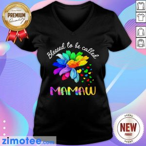 Daisy Flower Blessed To Be Called Mamaw V-neck