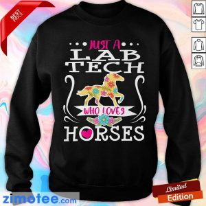Horse Just A Lab Tech Who Loves Horses Sweater