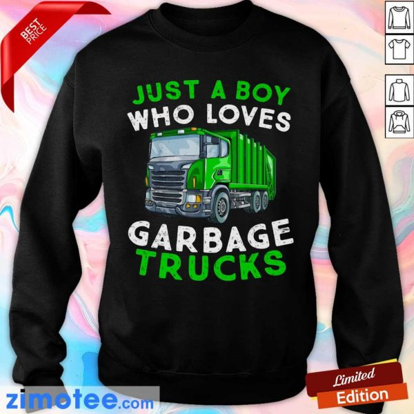 Just A Boy Who Loves Garbage Trucks Sweater
