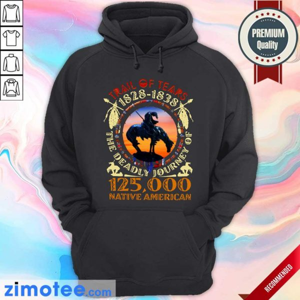 Native Trail Of Tears 1828 1838 The Deadly Journey Of 125000 Native American Hoodie