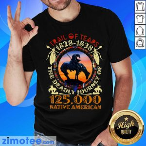 Native Trail Of Tears 1828 1838 The Deadly Journey Of 125000 Native American Shirt