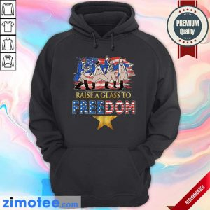 Raise A Glass To Freedom 4th Of July American Flag Hoodie