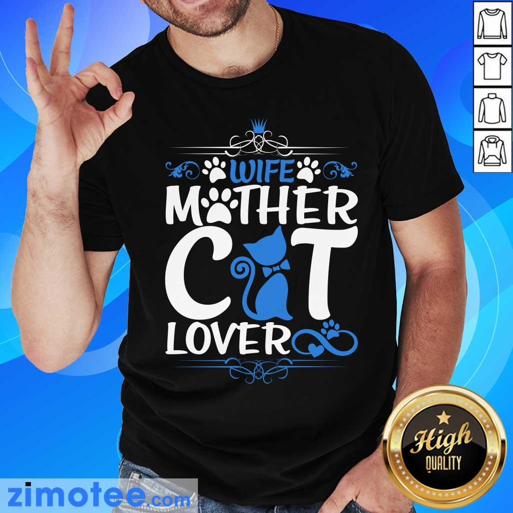 Wife Mother Cat Lover Paw Cat Shirt