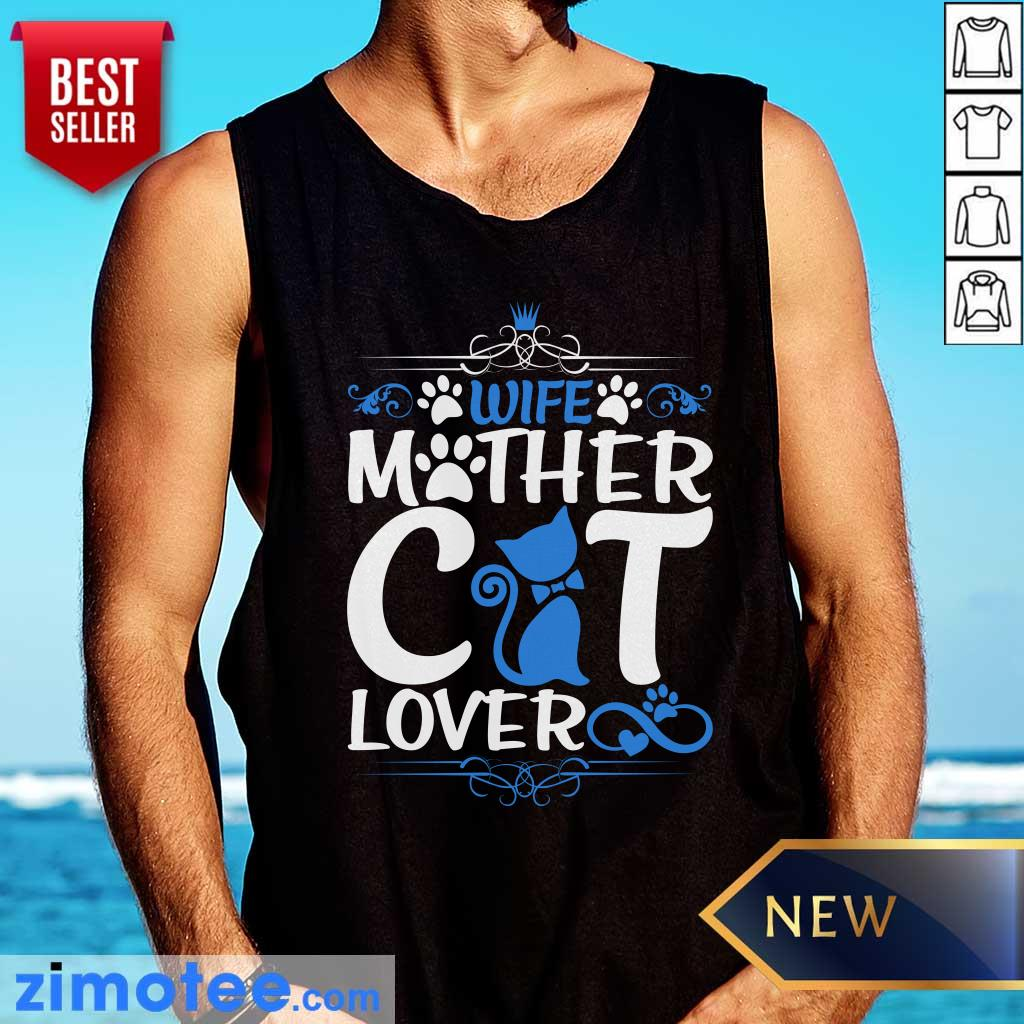 Wife Mother Cat Lover Paw Cat Tank Top