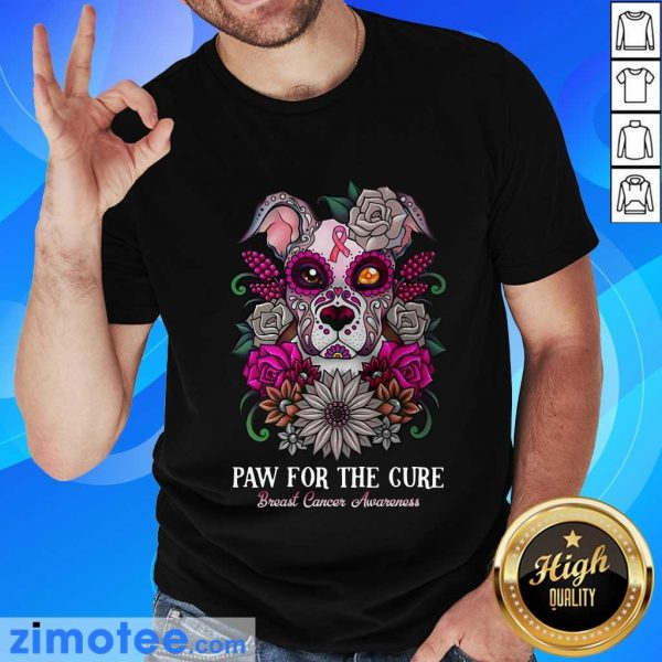 Paw For The Cure Breast Cancer Awareness Bulldog Shirt